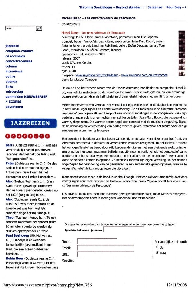 """""""Les onze tableaux de l'escouade"""" - Jazzenzo"""