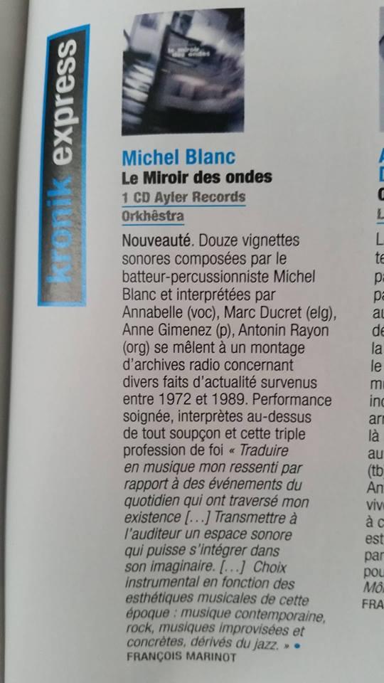 Le Miroir Des Ondes - JazzMag